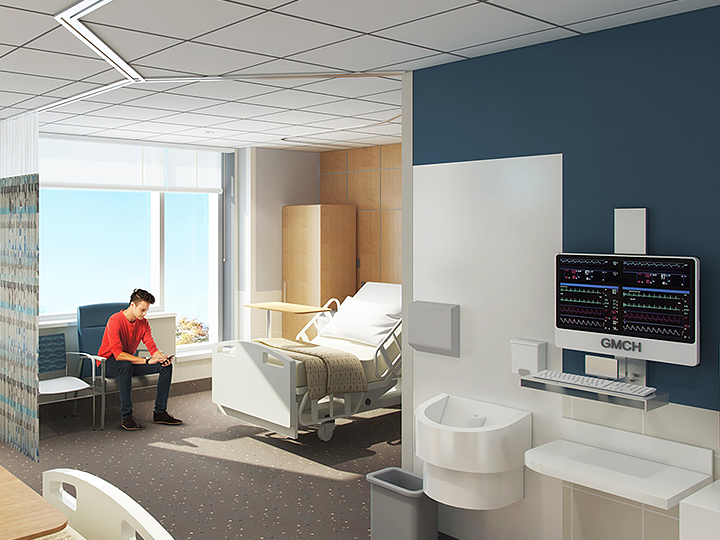 Artistic Rendering of Artistic Rendering of Groves Memorial Hospital 2