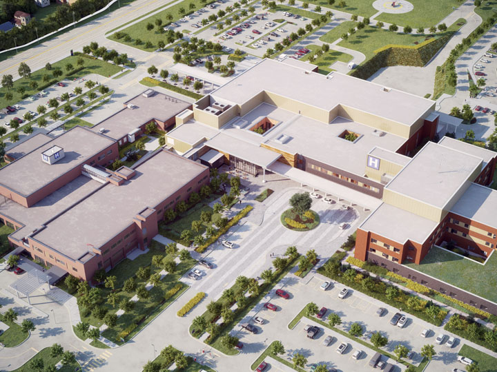 Artistic Rendering of Milton District Hospital 4