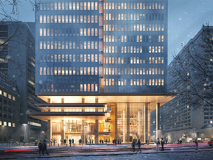 Artistic Rendering of  New Toronto Court House