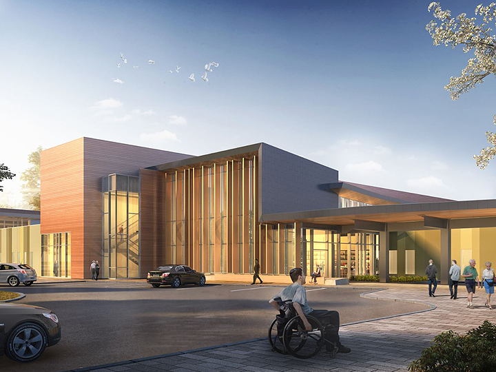 Artistic Rendering of Orleans Health Hub Ground