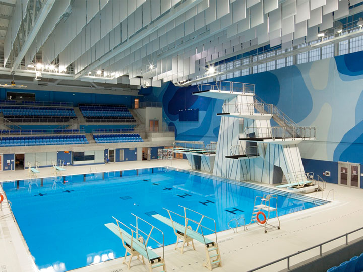 Interior Photograph of PanAm Aquatics Centre 2