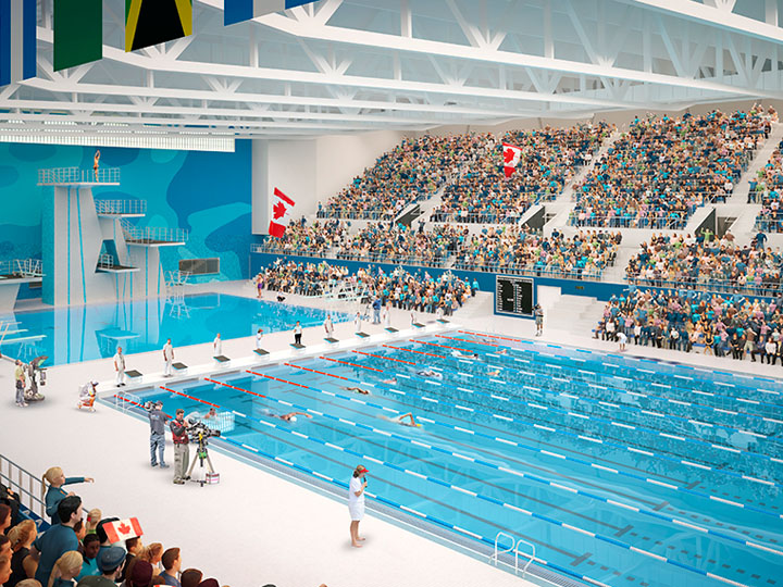Artistic Rendering of PanAm Aquatics Centre 3