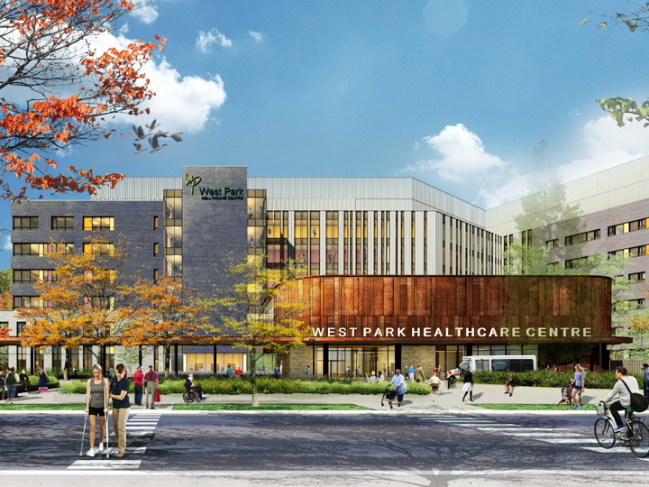 Exterior image of West Park Healthcare Entrance